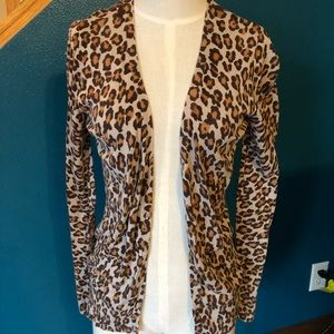 Leopard print Old Navy cardigan